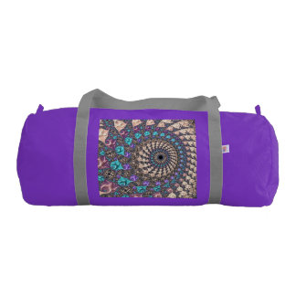 Fractal Spiral & Swirl Double Sided Gym Bag
