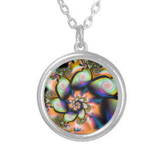 Fractal Spiral Tropical Smoothie Necklace