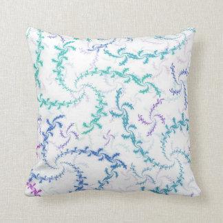 Fractal Spirals Throw Pillow