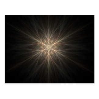 Fractal Star or Snowflake Design Postcard