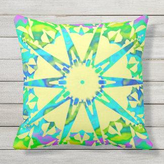 Fractal♥ star throw pillow