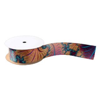 Fractal Starfish Satin Ribbon