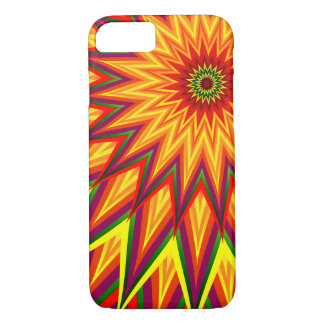 Fractal Sunflower Abstract Floral Art iPhone 7 Case