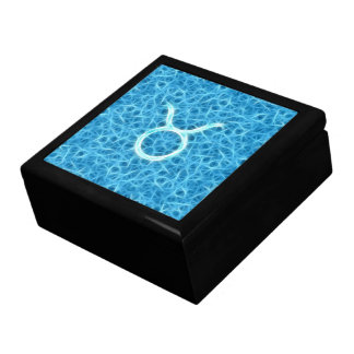 Fractal Taurus Blue Zodiac Gift Box