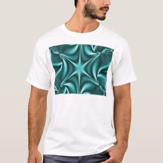 Fractal Teal Aqua Starflower T-Shirt