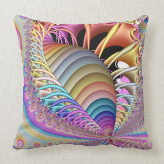 Fractal The Shell Throw Pillow
