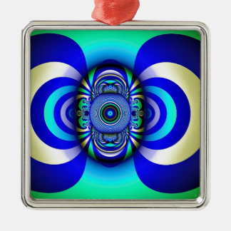 Fractal Third Eye Fantasy Digital Metal Ornament