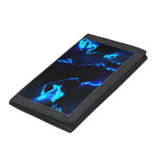 fractal thunderstorm (SF) Trifold Wallets