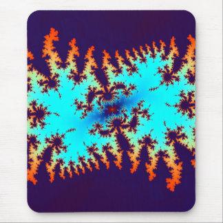 fractal tie-dye: animal print mouse pad