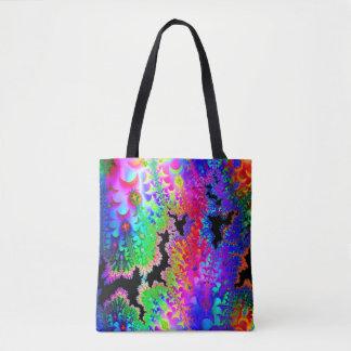 Fractal Tie Dye Tote Bag