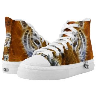 Fractal Tiger High Tops