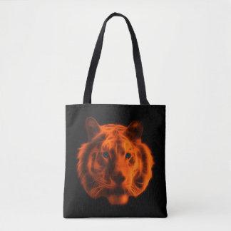 Fractal Tiger Tote Bag