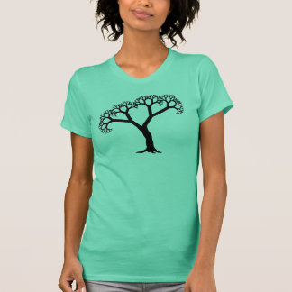 Fractal Tree Black T-Shirt