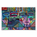 Fractal Tree of Life Mexican Couple Poster