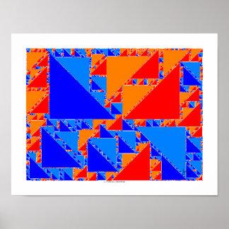 fractal truchet tiles poster