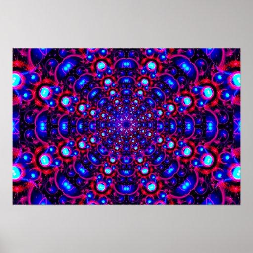 Fractal Tunnel Mandala Poster