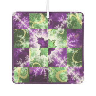 Fractal two colour Checkerboard with detail Car Air Freshener