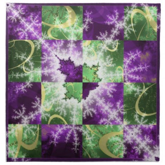 Fractal two colour Checkerboard with detail Napkin
