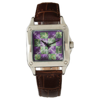 Fractal two colour Checkerboard with detail Watch