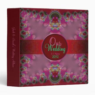 Fractal Union Lace Wedding Album Binder