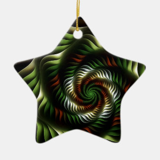 Fractal vortex ceramic ornament
