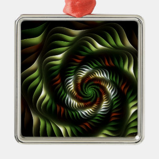 Fractal vortex metal ornament