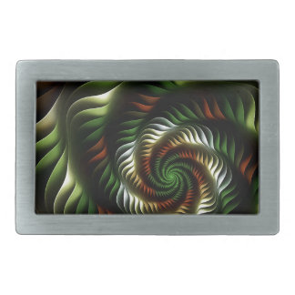 Fractal vortex rectangular belt buckle