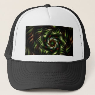Fractal vortex trucker hat