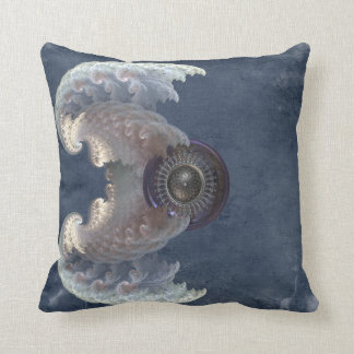 Fractal Wings Throw Pillow