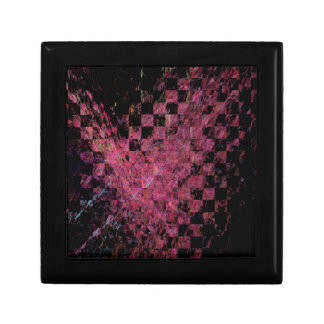 Fractal with abstract heart gift box