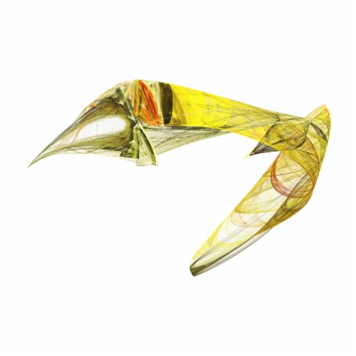Fractal - Yellow Fish Swimming Photo Cutout