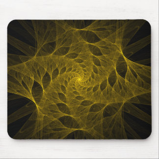 Fractal Yellow Spiral Mousepad