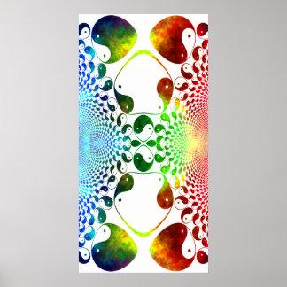 Fractal Yin Yang Mirror Poster