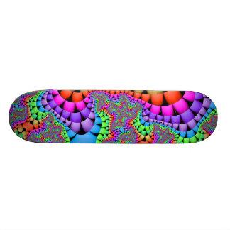Fractale de mélange de couleur plateaux de skate