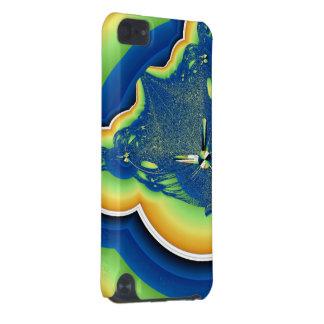 Fractale verte et bleue coque iPod touch 5G