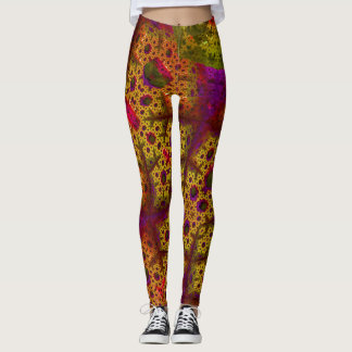 Fractalicious Gold Leggings