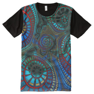 "Fractaling ""wave"" All-Over-Print T-Shirt"