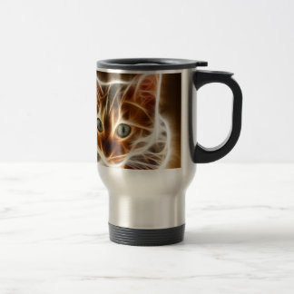 Fractalius Bengal Cat Travel Mug