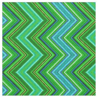 Fractalius Chevron E-W Teal Fabric