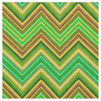 Fractalius Chevron N-S Green Fabric