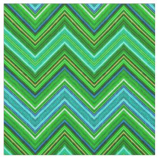 Fractalius Chevron N-S Teal Fabric