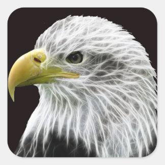 Fractalius Eagle Square Sticker