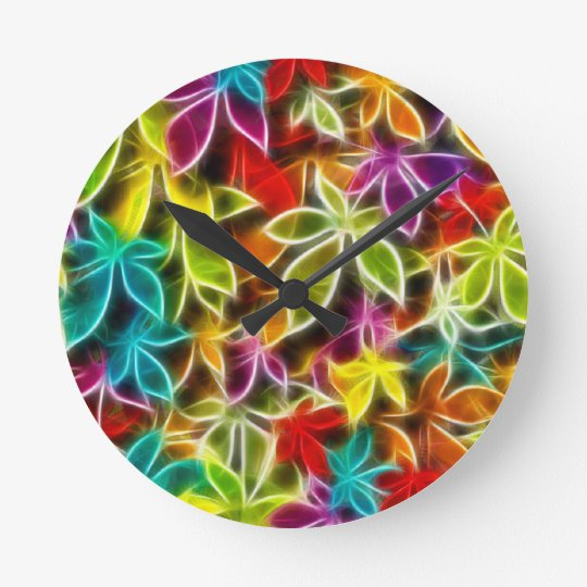 Fractalius leaf design wallclock