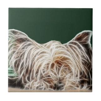 Fractalius Yorkie Dog Tile