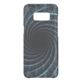 Fractalized Blue Spiral Uncommon Samsung Galaxy S8 Case