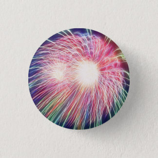 Fractalized Fireworks 1 Inch Round Button