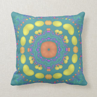 Fractascope 7 Colorful Throw Pillow