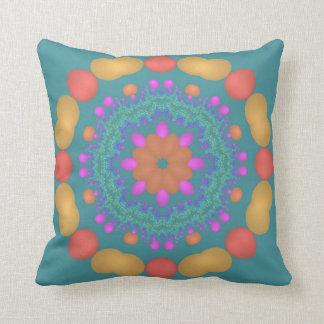 Fractascope 8 Throw Pillow