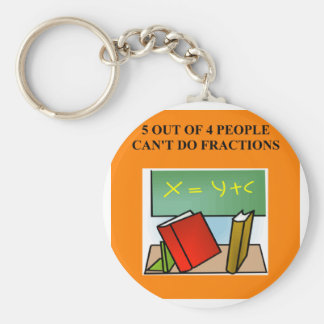 fraction math joke keychain