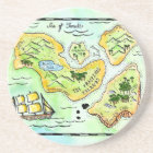 Fractious Islands Treasure Map Coaster
